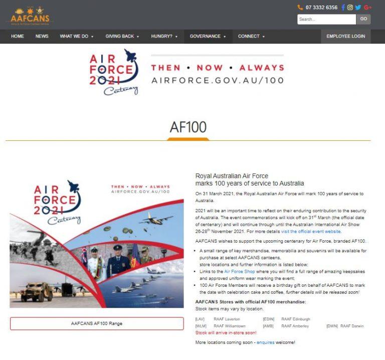 Support for Air Force AF100